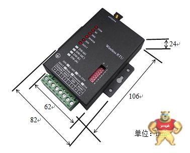 无线设备外接线图: 电源正极和负极,485接口的a线和b线.