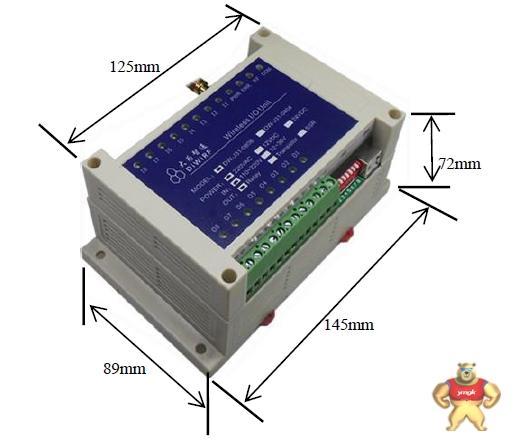 远距离无线 plc di/do4路传输控制器设备dw-j31 电气工程师无线,开关量无线发射,开关4路,无线呼叫,无线按键