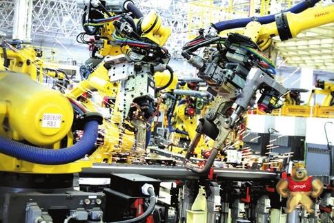 4.18万平方米汽车焊装车间 机器人林立