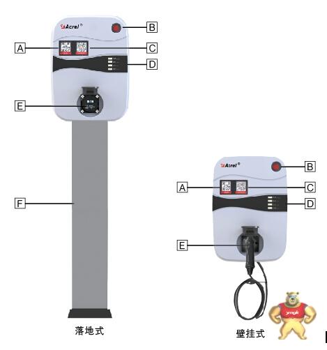 交流7kw充电桩便携式 aev-ac007dx安科瑞电气 acrel
